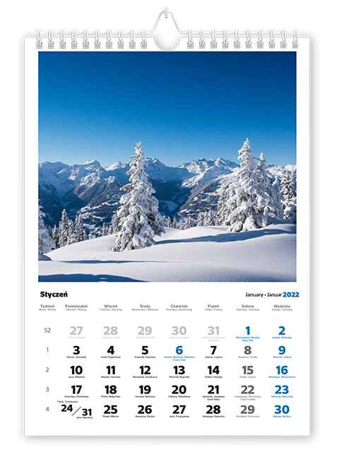 kalendarze spiralowane A3 iA4