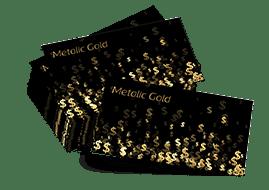 przykładow wizytówki na złotym papierze