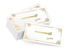 wizytówki złocone folią